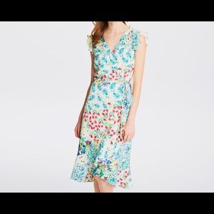 Karl Lagerfeld dress in floral-print and jacquard